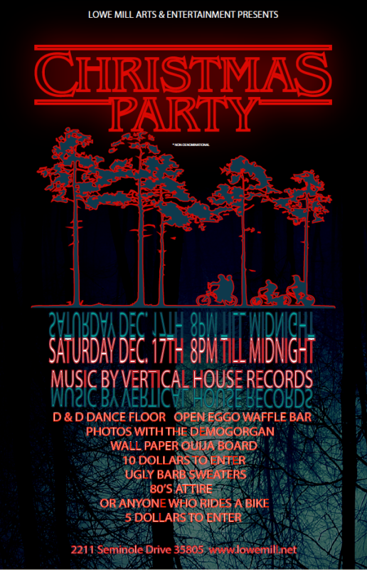 12 17 Stranger Things Christmas Party Lowe Mill Arts